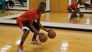 getlinkyoutube.com-Harry Giles Workout Top 5 Freshman in the Country - Kenneth Bates LAAB Work