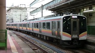 getlinkyoutube.com-【越後線】JR東日本E129系電車 ニイA3編成+ニイA2編成+ニイA9編成 新潟駅到着