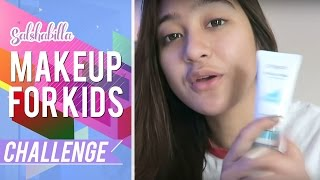 getlinkyoutube.com-Salshabilla #BEAUTY - MAKE UP FOR KIDS #CHALLENGE