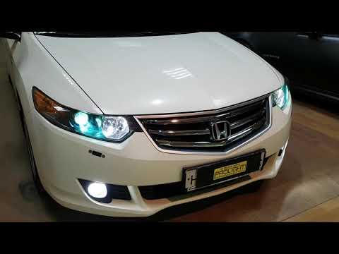 Honda Accord. Замена линз на Hella 3R Premium. Полировка стёкол. Скрытая установка ксенона.