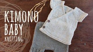 getlinkyoutube.com-Tutorial Knitting Baby Kimono (Kimono Set)