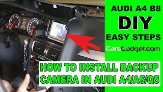 getlinkyoutube.com-How to install rear view camera on Audi A4 B8 B8.5 B9 A5 Q5 Q3 B9 2017 2018 BMW 3 F30 DIY