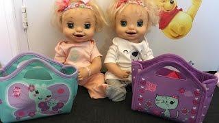 getlinkyoutube.com-Baby Alive Twins Daycare Routine!