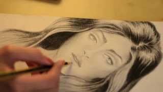 getlinkyoutube.com-طريقتي في رسم الشعر !