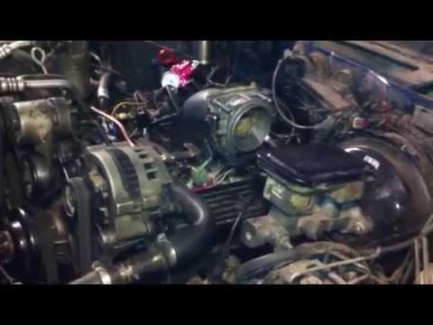 Запуск двигателя 4.3L после переделки с моновпрыска на распределённый.