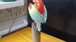 getlinkyoutube.com-3D Origami Parrot Tutorial