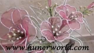 getlinkyoutube.com-flower making, net, clay,Dough flower, dry arrangement tips