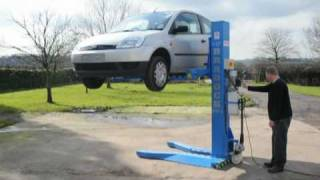 getlinkyoutube.com-Bradock 5 series portable car lift