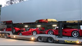 getlinkyoutube.com-EXCLUSIVE!: LaFerrari, Enzo, F50, F40 & 288 GTO SOUND! unloading! Concours D'Elegance of Knokke