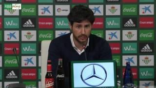 Rueda de prensa de Víctor Sánchez del Amo tras el Betis-Sevilla