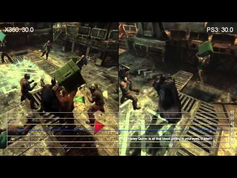 Batman Arkham City Xbox 360 vs PlayStation 3 Comparison HD