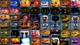 getlinkyoutube.com-Five Nights at Freddy's WORLD All 48 Characters Unlocked (All Animatronics)