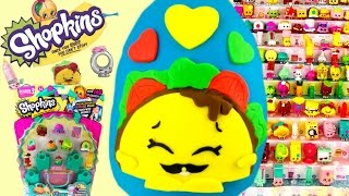 getlinkyoutube.com-SHOPKINS Taco Terrie Play Doh Surprise Egg Limited Edition Hunt! Can We Complete Season 3?!