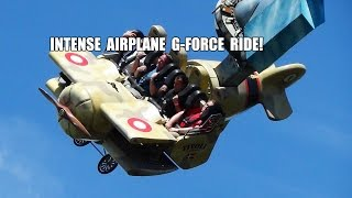 getlinkyoutube.com-Vertigo - Absoultely INSANE Airplane G-Force Amusement Park Ride Tivoli Gardens Denmark