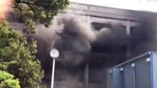 宝塚市役所で火炎瓶投げ放火