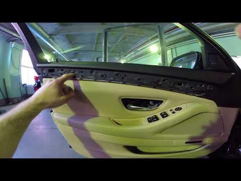 Замена тросик открывания двери BMW 530d F10