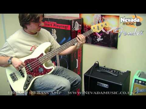 Fender Bronco 40 Bass Amp Demo - Damon from Fender @ Nevada Music UK