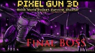 "getlinkyoutube.com-Pixel Gun 3D (Mindcraft Style) Final Boss ""Ender Dragon"" Campaign Mode iOS/Android"