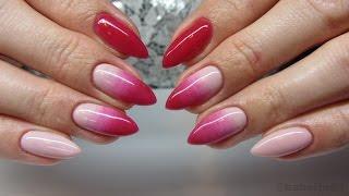 getlinkyoutube.com-Pink&Nude Ombre Manicure - Jak zrobić ombre za pomocą pędzelka - Chioco Pro Uv Hybrid