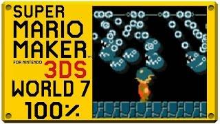 getlinkyoutube.com-Super Mario Maker for Nintendo 3DS - World 7 | Super Mario Challenge 100% Walkthrough