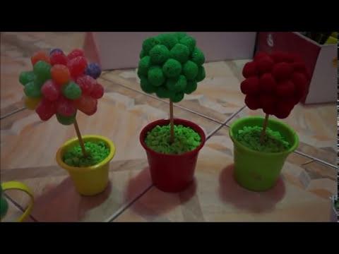 DIY:Árvore de bala(jujuba)