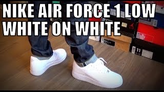 getlinkyoutube.com-Nike air force 1 low white on white on feet