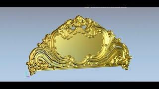 getlinkyoutube.com-CNC, ArtCam, Modeling headboard #1. Моделирование спинки кровати.