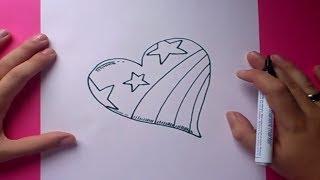 getlinkyoutube.com-Como dibujar un corazon paso a paso 3 | How to draw a heart 3