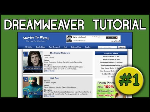 HTML5 &amp; CSS3 | Dreamweaver CS5 Tutorials | Project Introduction