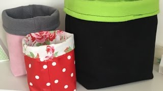getlinkyoutube.com-How To Make A Fabric Storage Caddy