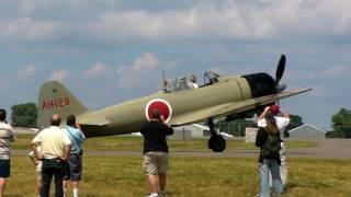 getlinkyoutube.com-A6M2-21 Zero at Air Expo 2010