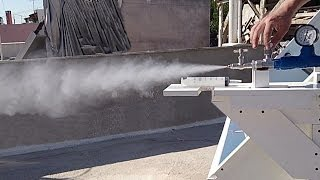 Parabolic Solar Trough Mirror Steam Production Test