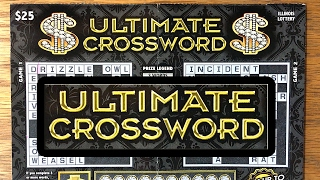 getlinkyoutube.com-$25 Ultimate Crossword! Illinois Lottery Scratch Off