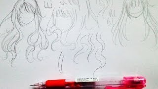 getlinkyoutube.com-Manga tutorial: Natural Flowing Hair