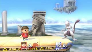 getlinkyoutube.com-【スマブラ for WiiU】拾ったシャドーボールを反射して即死 ミュウツー むらびと