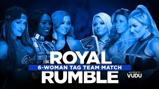720pHD WWE Royal Rumble KickOff Show 2017 Six Womens Tag Team Match