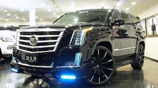 2015 Cadillac Escalades on Lexani Wheels w/ Next Nation Body Kits