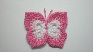 getlinkyoutube.com-Crochet Butterfly Tutorial | new HD 2017