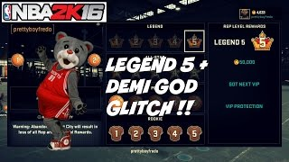 Legend 5 rep glitch + Demi GOD update GLITCH!!!!!!!!!! NBA 2K16 - Prettyboyfredo