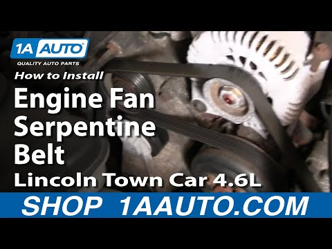 How to Replace Serpentine Belt 00-02 Lincoln Town Car