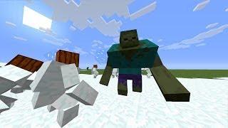 getlinkyoutube.com-Mutant Snow Golem VS Mutant Zombie - MVM BATTLE #06