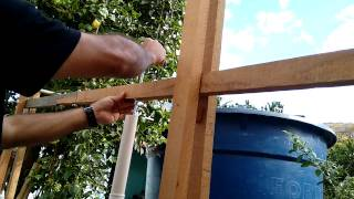 getlinkyoutube.com-Bomba d'agua caseira com cano de PVC parte 1
