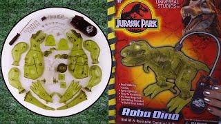 getlinkyoutube.com-Building: Jurassic Park ROBO DINO Remote Control T-REX robotic toy