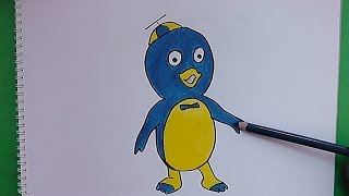 Como dibujar y pintar a Pablo (Backyardigans) - How to draw and paint Paul