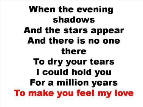 Adele - make you feel my love lyrics