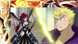 getlinkyoutube.com-Erza Scarlet & Natsu Dragneel vs Laxus Dreyar   English Sub