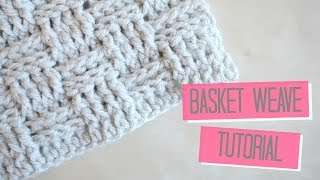 getlinkyoutube.com-CROCHET: Basket weave tutorial | Bella Coco
