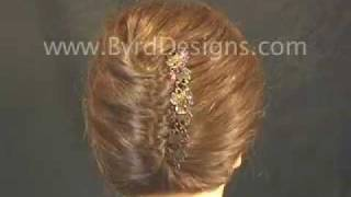 getlinkyoutube.com-Using Byrd Designs Hair Accessories for a French Twist updo.