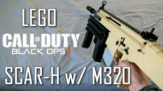 getlinkyoutube.com-Call Of Duty: Black Ops 2: LEGO SCAR-H | M320 Grenade Launcher