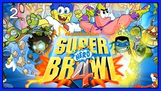 Super Brawl 4! NEW FULL! Patrick Star VS. Spongebob Squarepants, Power Rangers, TMNT, Breadwinners!